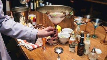 Katie Burgess during the martini masterclass with Phillip Jones at Pialligo Estate