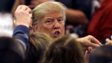 Divisive: Republican presidential candidate Donald Trump.