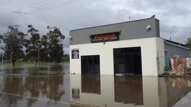 Flooding in Forbes peaked late on Sunday night.