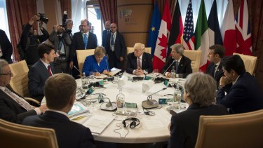 G7 leaders meet in Sicily to discuss trade, climate change, refugees and other issues; 148 countries have signed up to the Refugee Convention, yet there are more refugees in the world  than at any other time since WWII.