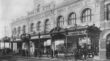 Overells shop in Fortitude Valley c.1900.