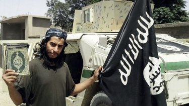 This undated image made available in the Islamic State's magazine Dabiq, shows Belgian Abdelhamid Abaaoud.