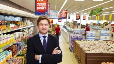 Aldi Australasia CEO Tom Daunt says the company pays the right amount of tax locally.