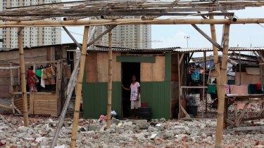 A resident at Kampung Akuarium.