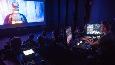 Thinking big: an Animal Logic review room at Fox Studios.
