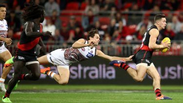 Off and running: Conor McKenna has improved quickly for Essendon.