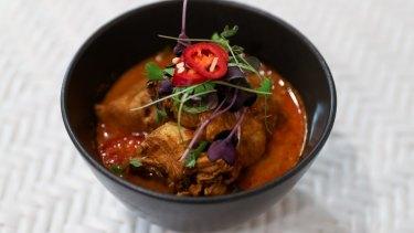 Generous menu: Chicken curry.