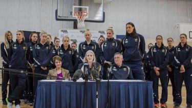 Lauren Jackson announced her retirement in Canberra last week at an Australian Opals camp.