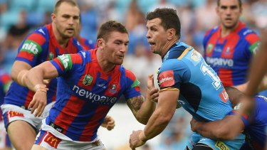 Magnet for the defence: Greg Bird.
