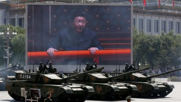 Xi Jinping is seen at a major parade of military hardware in Beijing earlier this month commemorating the 70th anniversary of Japan's surrender during World War II.
