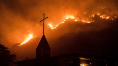 The devastating wildfire season in California drove insured losses to around $US8 billion.
