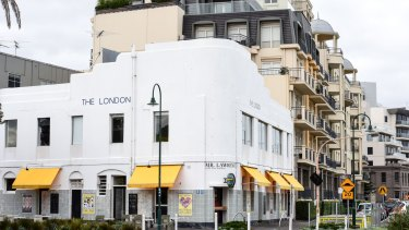 The London Hotel in Port Melbourne, which is facing demolition to make way for apartments.