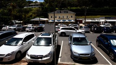 Competition is fierce for parking spots near Palm Beach Wharf in Pittwater Park.