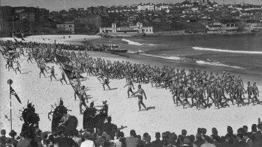 Australian Surf Life Saving Championships Bondi Beach 1935.