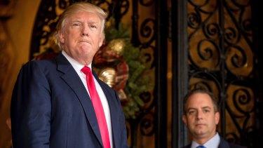 President-elect Donald Trump at Mar-a-Lago, in Palm Beach, Florida.