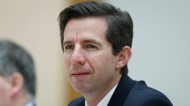 Education Minister Simon Birmingham warned universities against cuts to regional students.