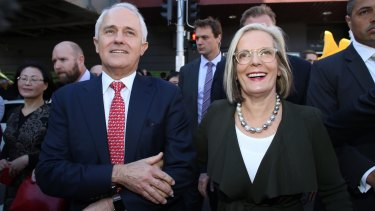 Prime Minister Malcolm Turnbull  with his wife Lucy in Sydney.