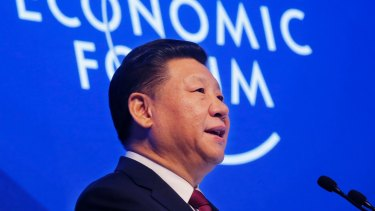 China's President Xi Jinping defending globalisation at the World Economic Forum in Davos, Switzerland.