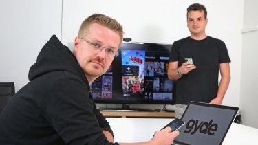 Tech entrepreneurs Andrew and Scott Julian at their office in Melbourne.