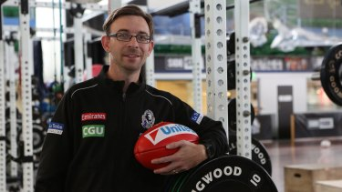 Collingwood capologist Dominic Milesi uses his finance skills every day in his role at Collingwood Football club.