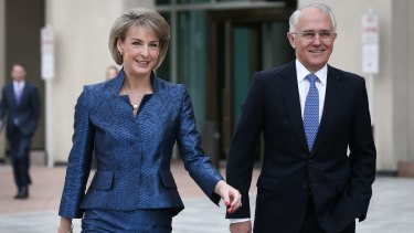 Michaelia Cash and Prime Minister Malcolm Turnbull.