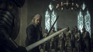 Henry Cavill stars as Geralt of Rivia.