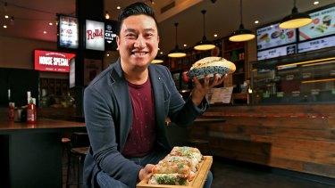 Bao Hoang, co-founder of the Vietnamese street food franchise Rolld.