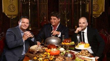 MasterChef judges Gary Mehigan, Matt Preston and George Calombaris are often mobbed when they travel overseas.