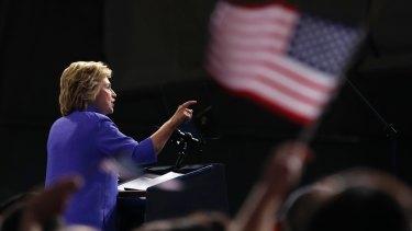 Hillary Clinton speaks at a campaign event  in Scranton, Pennsylvania.