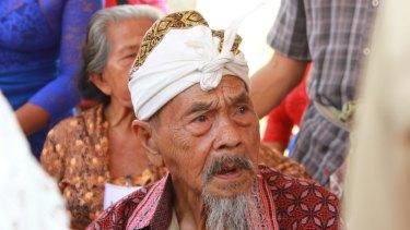 Ida Bagus Krenda, 96, who witnessed the execution of  communists at Batuagung village in Bali in 1966.