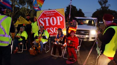 Anti-fracking protesters are proving hard to budge.