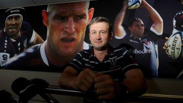 Melbourne Rebels coach Damien Hill.