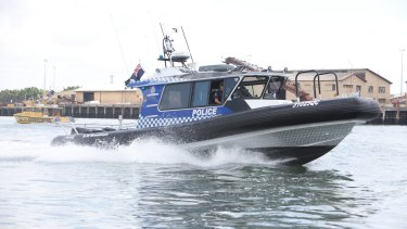 Water Police raced to a stricken yacht off North Stradbroke Island on Sunday, after the vessel hit rocks in the early hours of the morning.