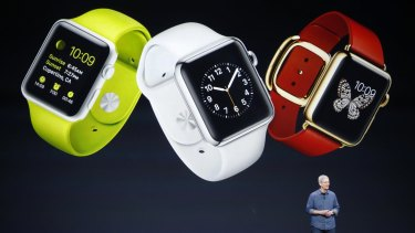Apple chief executive Tim Cook unveiled the Apple Watch on September 9.