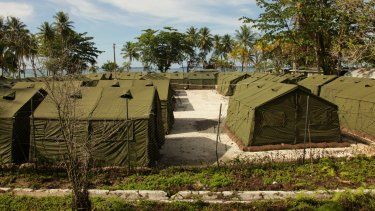 Detention facilities at the Manus Island Regional Processing Facility.