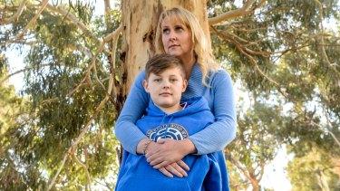 Kristen Tatham and son Riley.