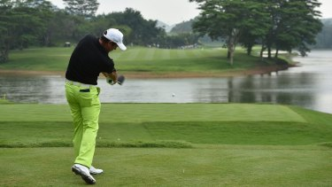 A player at the Shenzhen International in Shenzhen.
