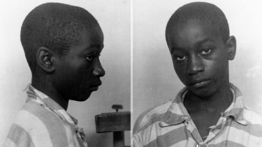 Wrongly executed ... George Stinney Jr appears in an undated police booking photo provided by the South Carolina Department of Archives and History.