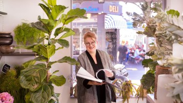 ''It's where my heart is,'' says Flowers Vasette owner Cherrie Miriklis-Pavlou, about Brunswick Street, Fitzroy. Her family has run shops on the street for 80 years. She features in a sumptuous new book about the street.