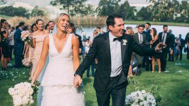 Channel Nine's Peter Stefanovic and Sylvia Jeffreys were married last weekend.
