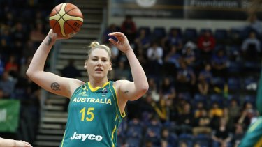 At risk: Opals coach Brendan Joyce says lack of TV deal will make it harder to keep stars, such as Lauren Jackson, in Australia.