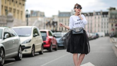 Net gain ... a tutu-style skirt looks great with a logo t-shirt or sweatshirt.