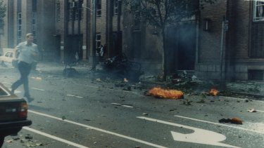 The scene after the Russell Street bomb exploded.