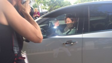 Labor Leader Annastacia Palaszczuk arrives at Government House on Tuesday.