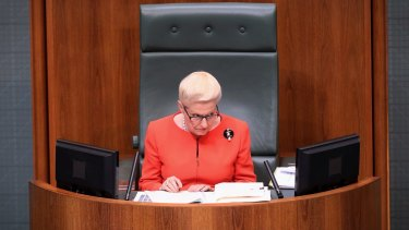Former Speaker Bronwyn Bishop's decision to sit in the party room enraged the opposition, who questioned her independence in the role.