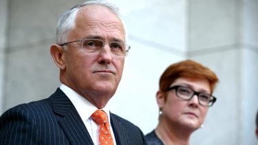 Prime Minister Malcolm Turnbull and Defence Minister Marise Payne.