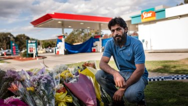 Zeeshan Akbar's friend, housemate and colleague, Adnan Amjid, at Queanbeyan's Caltex service station.