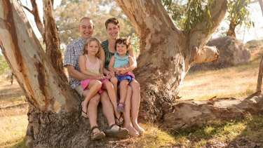 Megan Blandford and husband Steve and children Abbey, 8, and Iris, 4 live in Beechworth, Victoria.