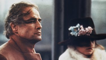 Hefty age gap: Marlon Brando, 48, and Maria Schneider, 19 star in Bernardo Bertolucci's film <em>Last Tango in Paris</em>.