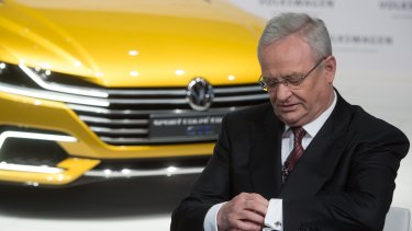 Time to go: Martin Winterkorn has stepped aside as Volkswagen CEO in the wake of the scandal.